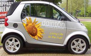 Vehicle graphics for Dainton Housing