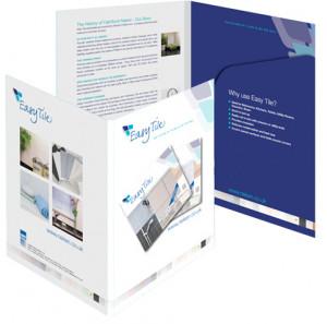 Easy Tile identity, folder and information leaflet design & artwork