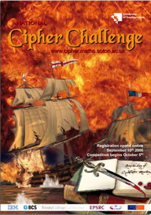 National Cipher Challenge poster for University of Southampton
