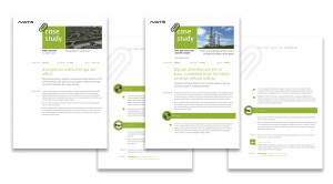 Case study template design for NATS