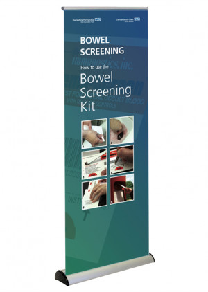 Bowel Screening campaign banner for NHS