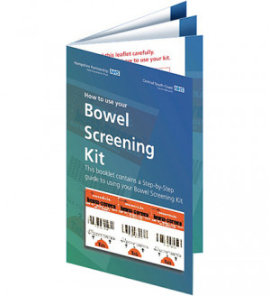 Bowel Screening information leaflet as part of NHS campaign