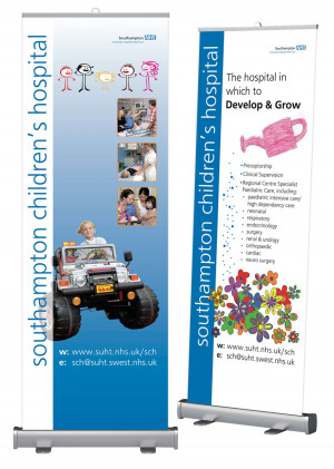 Children\\\'s Ward roadshow banners for NHS