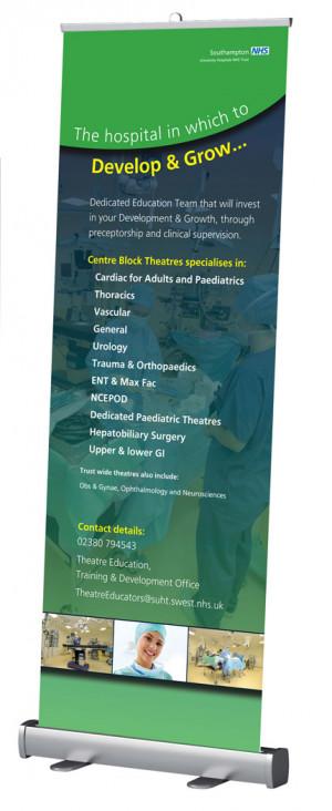 Cardiac roadshow banner for NHS