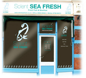 Shop front design and brand for Solent Sea Fresh