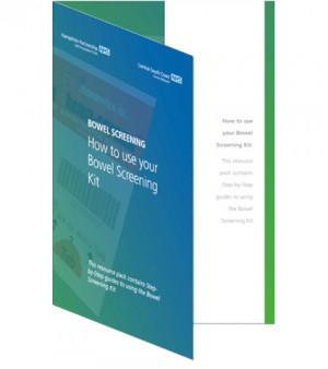 Bowel screening kit information design & artwork