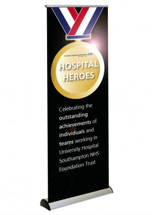 Hospital Heroes award banner for NHS