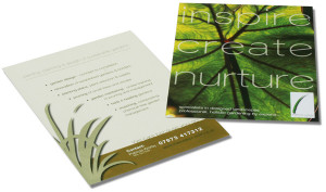 Holistic Gardening promotional flyers