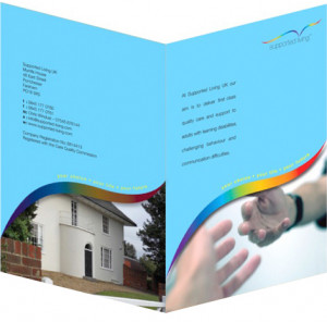 Supported Living identity, folder design & artwork