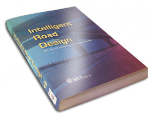 Intelligent Road Design book cover design for WIT Press