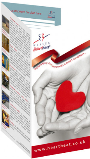 Fund raising DL leaflet & branding for Wessex Heartbeat