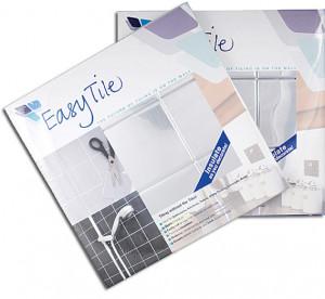 Easy Tile branding and 6 tile packaging