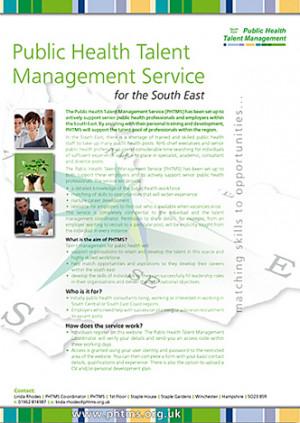 Promotional poster for Public Health Talent Management