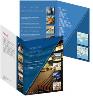 A4 information brochure for Langstone Technology Park